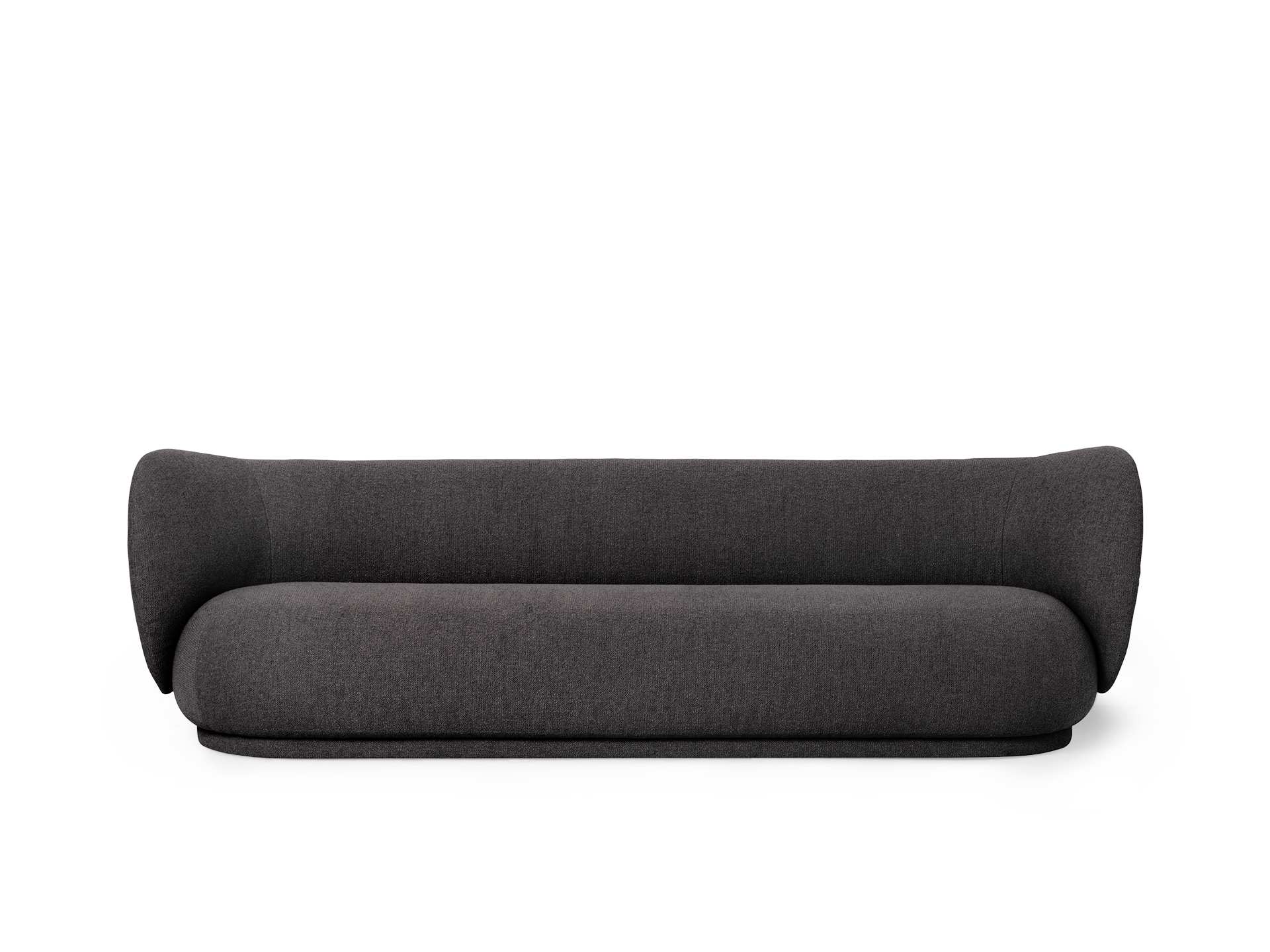 Rico 4 Seater - Warm Dark Grey - Side - Transparent Background