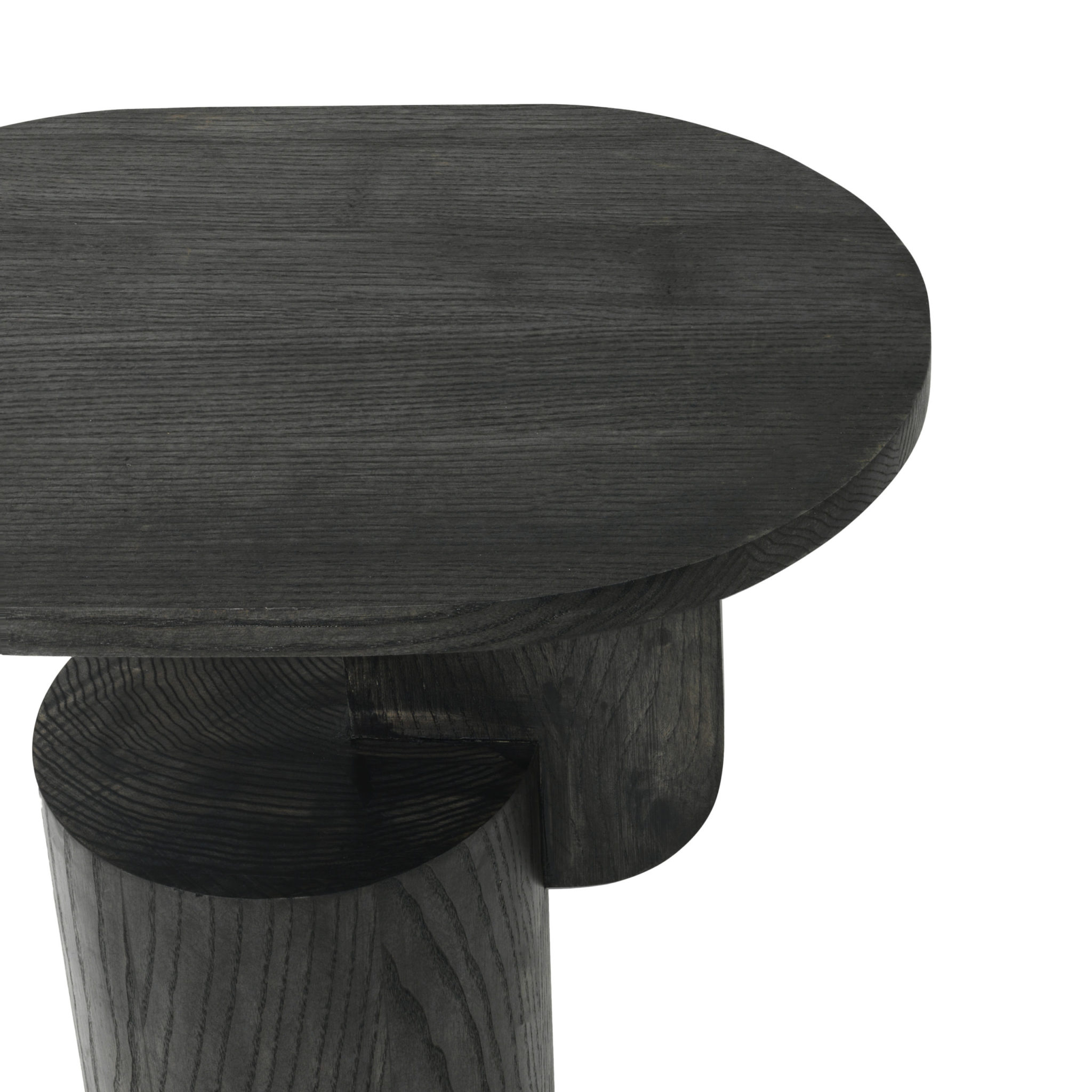 Insert Side Table - Black Stained Oak - Detail View White Background